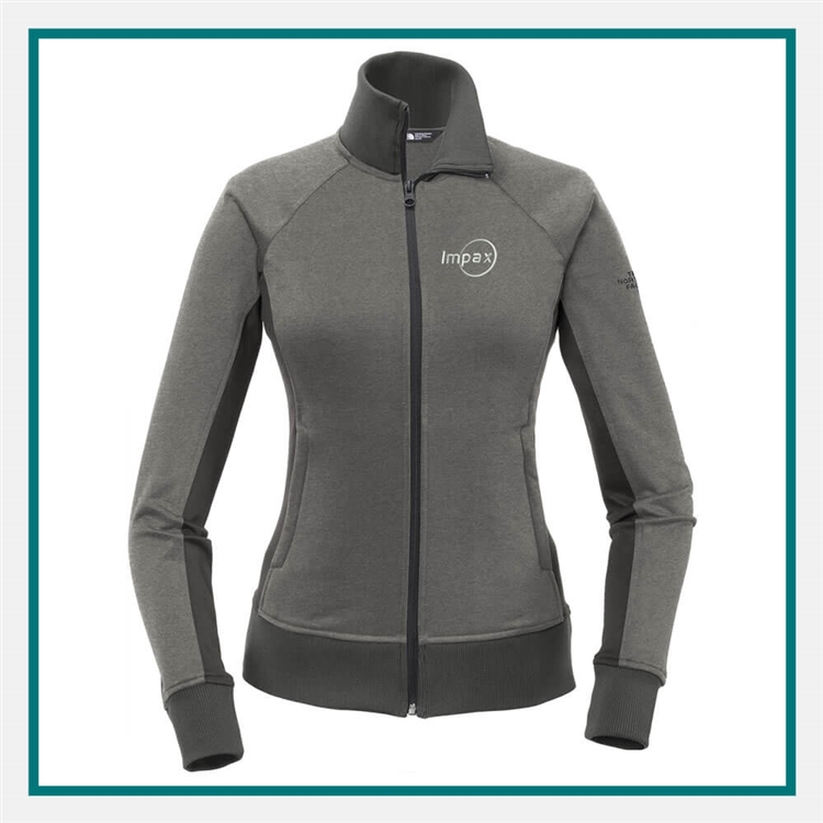 61d17c1fa453 The North Face Ladies Tech Full Zip Fleece Jacket with Custom Embroidery, The  North Face