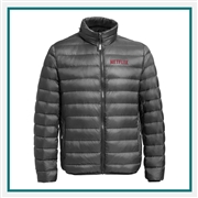 TUMI Men's Packable Puffer Jacket with Custom Embroidery, TUMI Custom Packable Down Jackets, TUMI Custom Logo Gear