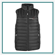 TUMI Men's Packable Puffer Vest with Custom Embroidery, TUMI Custom Packable Down Vests, TUMI Custom Logo Gear