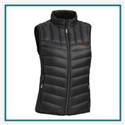 TUMI Women's Packable Puffer Vest with Custom Embroidery, TUMI Custom Packable Down Vests, TUMI Custom Logo Gear