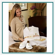 Cobblestone Mills Waffle Weave Robe Set Custom Embroidered