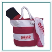 Towel Specialties Vintage Canvas Tote Set Printed Logo