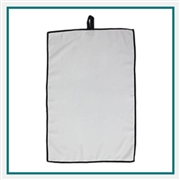 Towel Specialties 16 x 24 Microfiber White Links Golf Towel with Custom Embroidery, Towel Specialties Custom Beach Towels, Towel Specialties Corporate Logo Gear