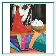 Towel Specialties 16 x 24 Turkish Cotton Signature Colored Midweight Golf Towel with Logo Imprint, Towel Specialties Custom Beach Towels, Towel Specialties Corporate Logo Gear