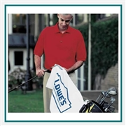 Towel Specialties 16 x 24 Turkish Cotton Signature White Golf Midweight Golf Towel with Logo Imprint, Towel Specialties Custom Beach Towels, Towel Specialties Corporate Logo Gear