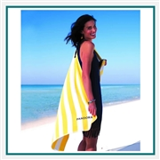 Towel Specialties 30 X 60 Turkish Signature Basic Weight Cabana Stripe Beach Towel with Custom Embroidery