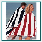 Towel Specialties 40 X 80 Horizontal Cabana Stripe Beach Towel with Custom Embroidery, Towel Specialties Custom Beach Towels, Towel Specialties Corporate Logo Gear