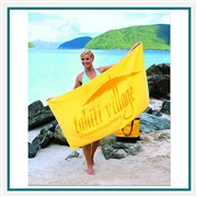Towel Specialties 30 X 60 Basic Weight Colored Beach Towel with Tonal Logo Imprint