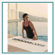 Towel Specialties White Basic Weight Beach Towel