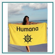 Towel Specialties 35 x 60 Superior Weight Colored Beach Towel with Tonal Logo Imprint, Towel Specialties Custom Beach Towels, Towel Specialties Corporate Logo Gear