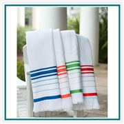 Towel Specialties 40 X 63 Turkish Signature Fringed Beach Towel with Custom Embroidery, Towel Specialties Custom Beach Towels, Towel Specialties Corporate Logo Gear
