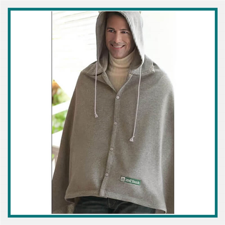 Cobblestone Mills Game Day Hooded Blanket Custom Embroidered