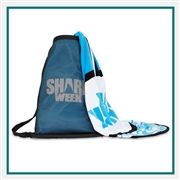 Towel Specialties Land & Sea Backpack N Surfboard Towel Printed Logo