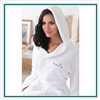 Cobblestone Mills Hooded Coral Fleece Robe Custom Embroidered