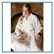 Cobblestone Mills Eco-Friendly Turkish Bamboo Robe Custom Embroidered