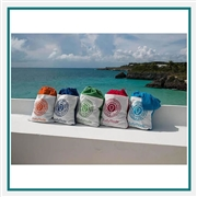 Towel Specialties 35 X 60 Stowaway Tote N Towel with Logo Imprint, Towel Specialties Custom Beach Towels, Towel Specialties Corporate Sales