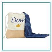 Towel Specialties Tradewind Canvas & Jute Tote N Beach Towel Printed Logo