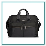 Tumi Alpha Bravo Patterson Brief with Corporate Logo, Tumi Custom Brief Cases, Promo Brief Cases