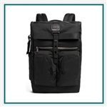 TUMI Alpha Bravo London Roll Top Backpack 1033021041 Corporate Logo