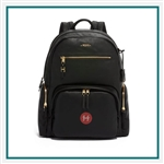 TUMI Voyageur Carson Backpack Leather Branded Logo