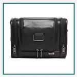 TUMI Alpha 3 Hanging Leather Travel Kit Corporate Logo
