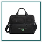 TUMI Alpha 3 Expandable Organizer Laptop Brief Corporate Logo