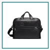 TUMI Alpha 3 Organizer Portfolio Brief Leather Custom Branded