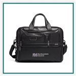 TUMI Alpha 3 Expandable Organizer Laptop Brief Leather Corporate Logo
