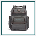TUMI Alpha 3 Brief Pack Anthracite Custom Logo