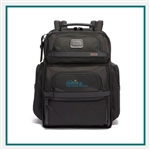 TUMI Alpha 3 Brief Pack Black Custom Logo