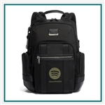 TUMI Alpha Bravo Nathan Expandable Backpack Corporate Logo