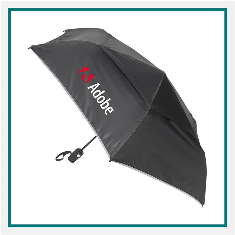 Tumi Medium Auto Close Umbrella 14415D, Tumi Custom Umbrellas, Tumi Custom Logo