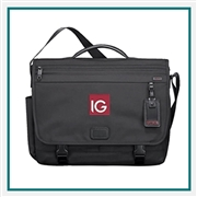 Tumi Corporate Collection Messenger Bag with Custom Embroidery, Tumi Custom Logo Messenger Bags, TUMI Corporate Sales