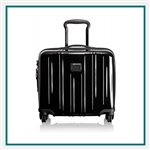 Tumi V3 Compact Carry-On 4 Wheeled Briefcase 228004D with Corporate Logo, Tumi Custom Travel Briefcase, Promo Luggage