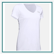 Under Armour Women's Tech V-Neck SS T-Shirt with Custom Embroidery, Under Armour Branded T-Shirts