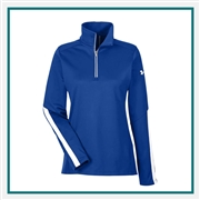 Under Armour Ladies' Qualifier 1/4 Zip Pullover 1276355 with Custom Embroidery, Under Armour Promotional Pullovers, Under Armour Corporate Outerwear
