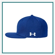Under Armour Unisex Flat Bill Cap Solid 1282141 Custom Embroidered