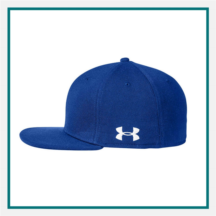 new concept 468e1 18195 Under Armour Unisex Flat Bill Cap Solid with Custom Embroidery, Under Armour  Corporate Caps,