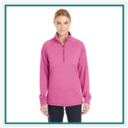 Under Armour Women's Tech Stripe Quarter-Zip 1289408 Custom Embroidered