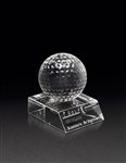 Crystal Golf Ball Award with Base, Crystal Golf Trophies, Crystal Golf Tournament Trophies Best Price, Engraved Glass Golf Awards, Engraved Golf Tournament Gifts