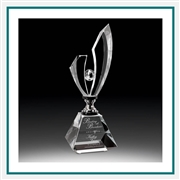 Optical Crystal Silver Lightning Award Custom