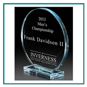 European Starphire Glass Triumph Award, Glass Golf Themed Trophies, Glass Engraved Awards, Engraved Glass Golf Awards, Engraved Gifts