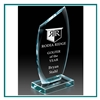 European Starphire Glass Medium Dynasty Award, Glass Golf Themed Trophies, Glass Engraved Awards, Engraved Glass Golf Awards, Engraved Gifts