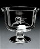 Hand Blown European Crystal Large Adagio Bowl, Crystal Bowls with Engraved Logo, Crystal Awards, Crystal Bowls