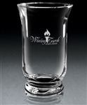 Hand Blown European Crystal Small Legato Vase, Crystal Vases Engraved Logo