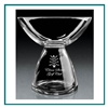 Hand Blown European Crystal Small Quantum Bowl, Crystal Bowls with Engraved Logo, Crystal Awards, Crystal Bowls