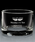 Hand Blown European Crystal Medium Grammercy Bowl, Crystal Bowls with Engraved Logo, Crystal Awards, Crystal Bowls