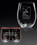 Etched Riedel Cabernet Merlot Glasses, Custom Engraved Wine Glasses, Wine Glasses with Engraved Logo, Sand Etched Riedel Merlot Glasses, engraved wine glasses, promotional wine glasses