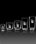Etched Old Fashioned Glasses, Engraved Old Fahsioned Glasses, Glassware with Engraved Logo, Sand Etched Barware