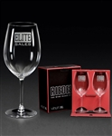 Riedel Vinium XL Cabernet Glass 2 Pc Gift Set with Sand Etched, Glasses Gift Set, Corporate Gifts